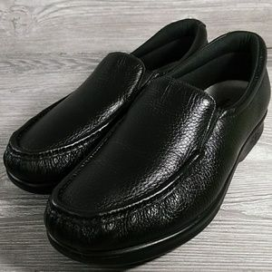 SAS Twin Black Leather Slip On Size 9.5 W Loafers